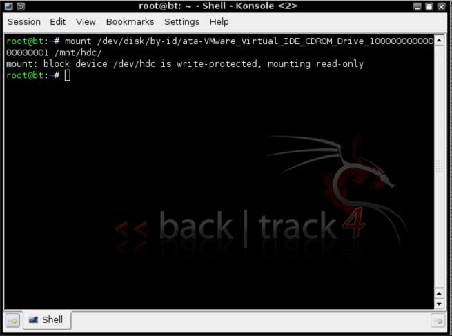 mount /dev/disk/by-id/ata-VMware_Virtual_IDE_CDROM_DRIVE_10000000000000000001 /mnt/hdc/