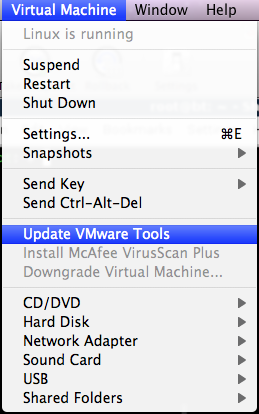 update vmware tools